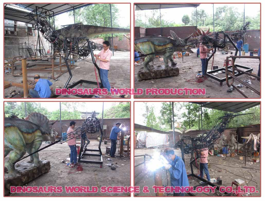 Animatronic-Dinosaurs-Electrical-Engineers-Connect-Power-To-Driven-Engines