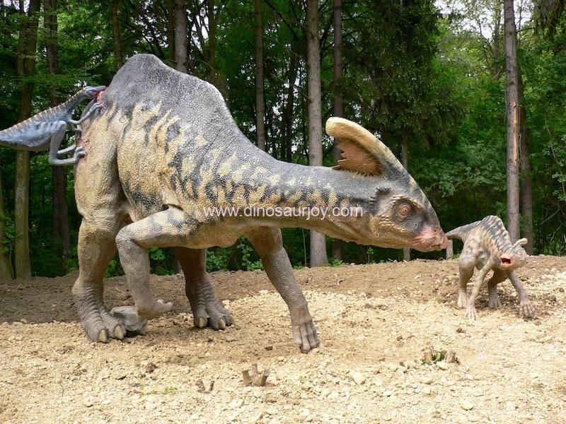 Parasaurolophus-Troodon