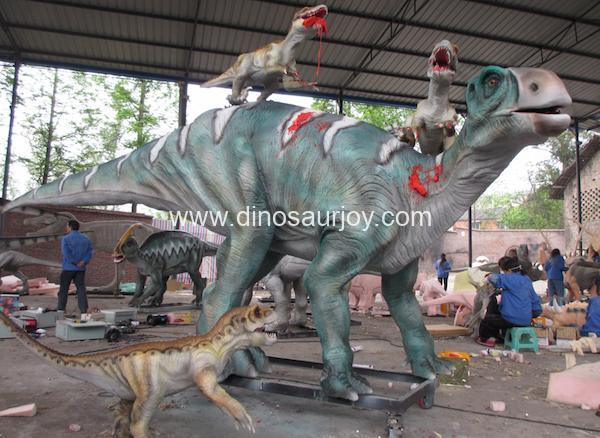DWD056-1 Iguanodon attacked by three raptors