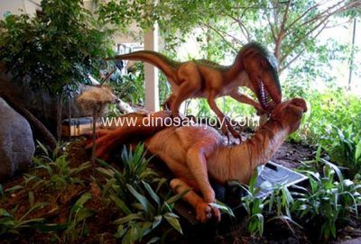 DWD150 Iguanodon attacked by one raptor