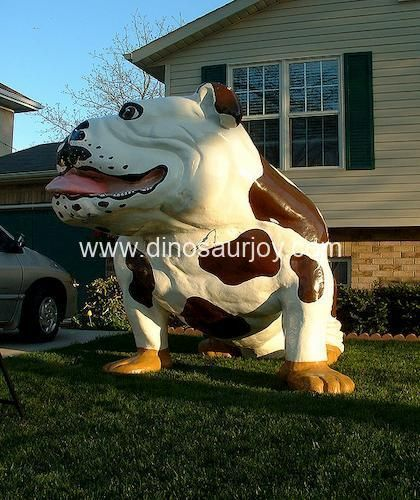 DWA093 Fiberglass Cartoon Bulldog