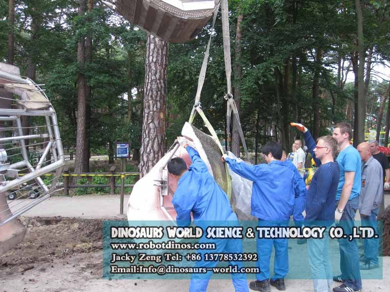 Install huge T-rex DWD1342